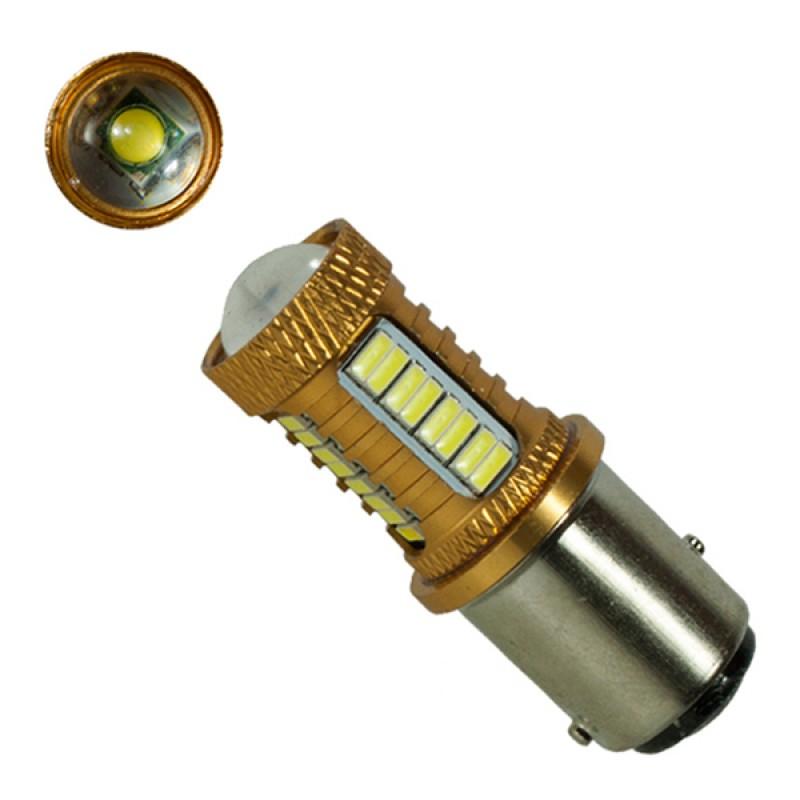 Λαμπτήρας 1157 32 SMD 4014 και 1 Cree LED Can Bus 12v Ψυχρό 6000k GloboStar 04479