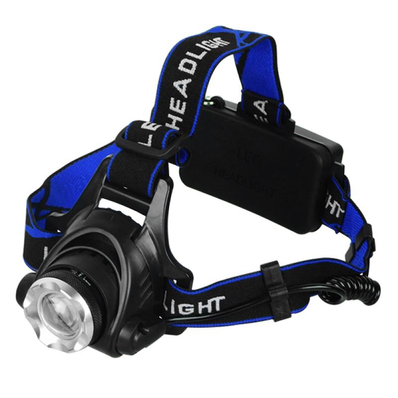 Πανίσχυρος Φακός Κεφαλής LED Επαναφορτιζόμενος 1800 Lumen 5200Mah GloboStar 05996