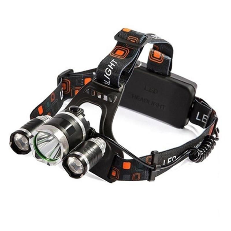 Πανίσχυρος Φακός Κεφαλής LED Επαναφορτιζόμενος 3000 Lumen 6000Mah GloboStar 06003