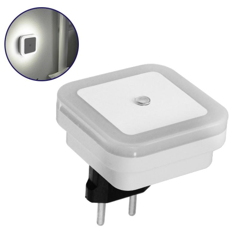 Φωτιστικό Νυκτός Πρίζας LED Τετράγωνο με Αισθητήρα Μέρας Νύχτας GloboStar 07047