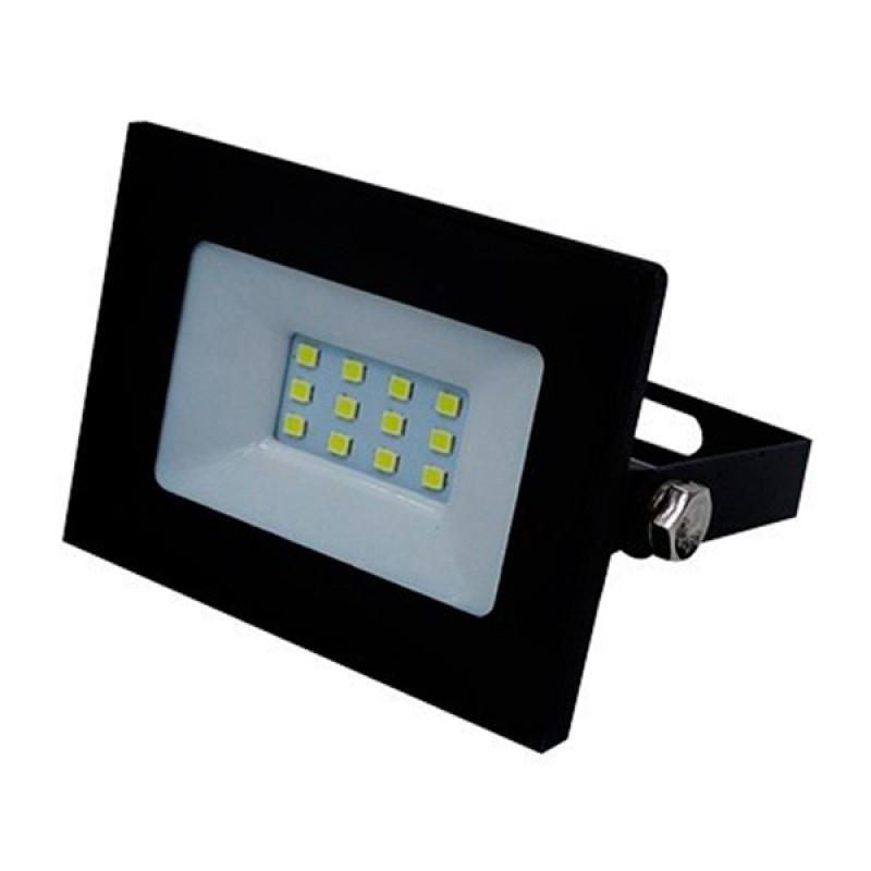 Προβολέας LED Slim Pad 10W 230v 950lm 120° Αδιάβροχος IP66 Φυσικό Λευκό 4500k GloboStar 11112