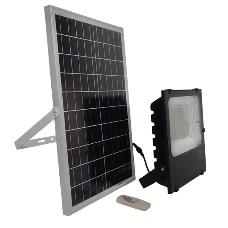 Αυτόνομος Ηλιακός Φωτοβολταϊκός Προβολέας LED 150W 9000lm 180° Αδιάβροχος IP65 με Ασύρματο Χειριστήριο Ψυχρό Λευκό 6000k GloboStar 12105