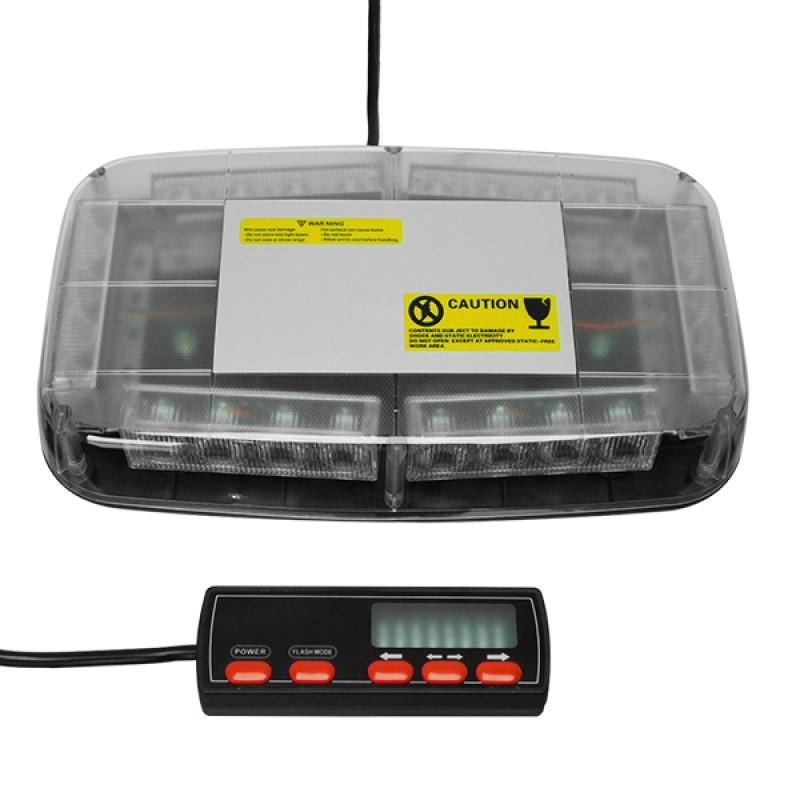 Φάρος Ασφαλείας Security Οροφής Αυτοκινήτου 72W 10-30V IP65 Αδιάβροχος Πράσινο GloboStar 34224