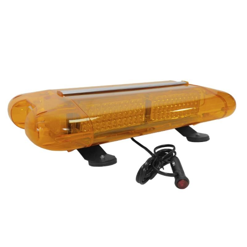 Φάρος Οδικής Βοήθειας Σήμανσης STROBO Οροφής Αυτοκινήτου - Φορτηγού 58.5CM Πορτοκαλί LED 60W 10-30 Volt με Controller Εναλλαγής Εφέ Προγραμμάτων GloboStar 34321