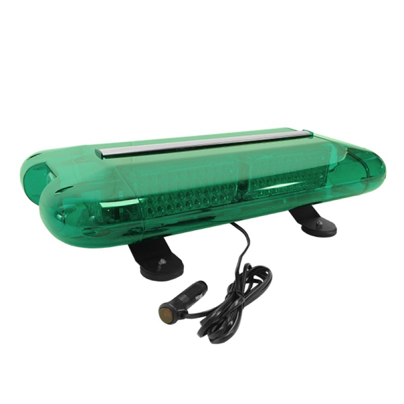 Φάρος Ασφάλειας Security Σήμανσης STROBO Οροφής Αυτοκινήτου - Φορτηγού 58,5CM Πράσινος LED 60W 10-30 Volt με Controller Εναλλαγής Εφέ Προγραμμάτων GloboStar 34322