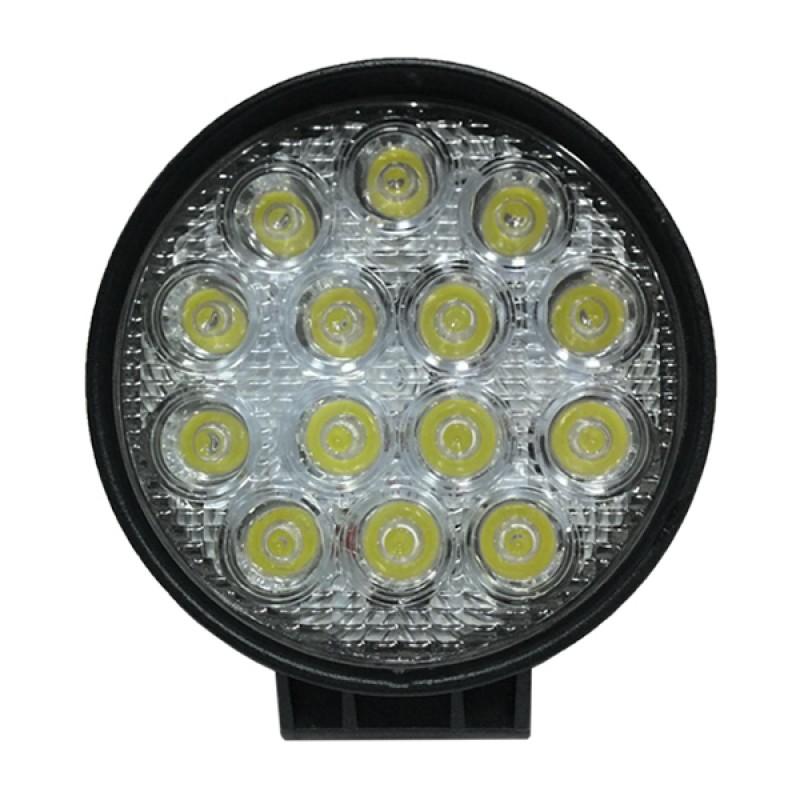 Προβολέας LED Εργασίας Στρογγυλός 42W 10-30V 5880lm 30° Αδιάβροχος IP65 Ψυχρό Λευκό 6000k GloboStar 40000