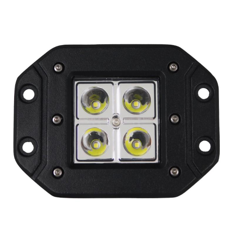 Χωνευτό Προβολάκι LED 18W 10-30V 2520lm 30° Ψυχρό Λευκό 6000k GloboStar 51117