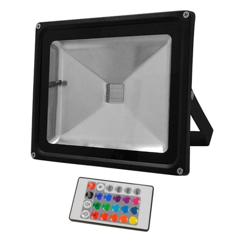 Προβολέας LED 30W 230V 1950lm 120° Αδιάβροχος IP65 με Ασύρματο Χειριστήριο RGB GloboStar 62002