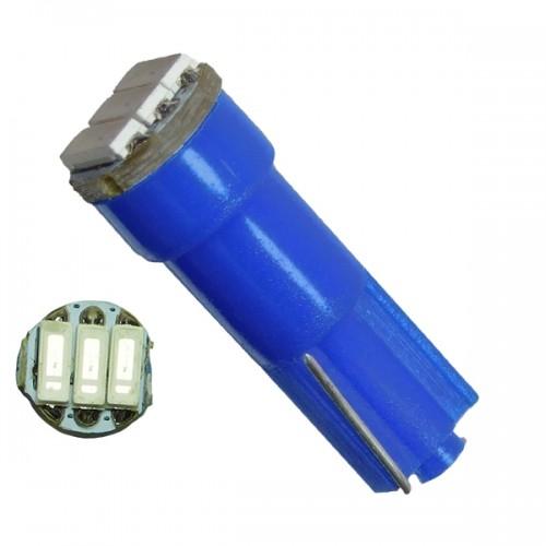 Λαμπτήρας LED T5 3 SMD 4014 Μπλε GloboStar 81040