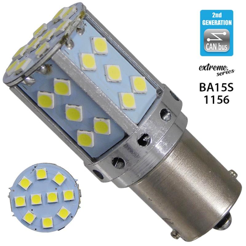 Λαμπτήρας LED Extreme Series Can-Bus 2ης Γενιάς με βάση 1156 16W 12v Ψυχρό Λευκό 6000k GloboStar 81238