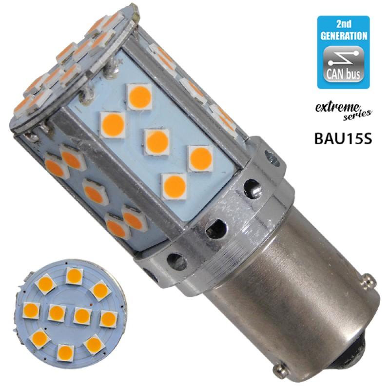 Λαμπτήρας LED Extreme Series Can-Bus 2ης Γενιάς με βάση BAU15S PY21W 20W 12v Πορτοκαλί για Φλας GloboStar 81241