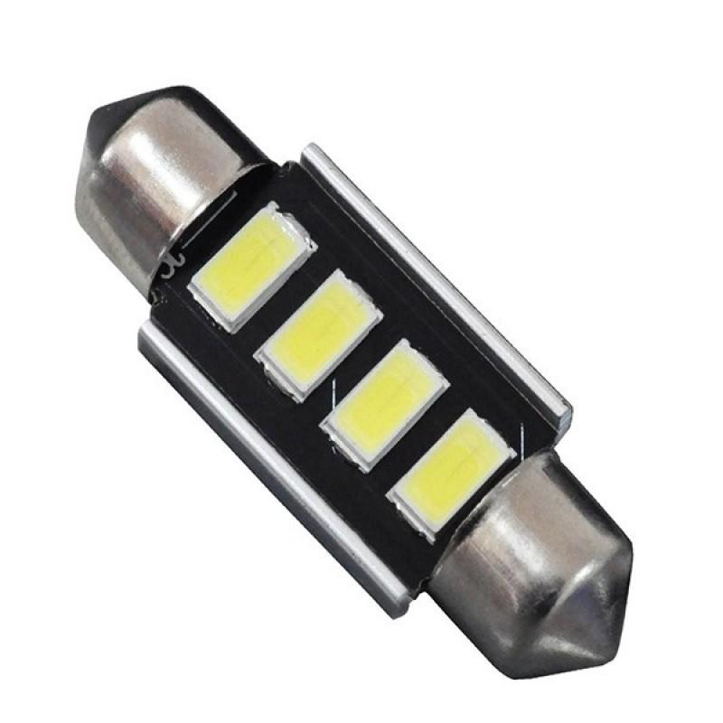 Σωληνωτός LED 36mm Can Bus με 4 SMD 5630 Ψυχρό Λευκό GloboStar 81312