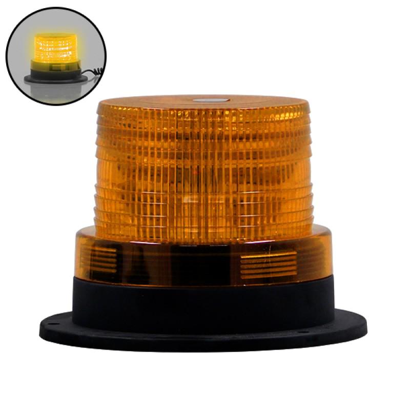 Φάρος Οδικής Βοήθειας STROBO LED 10W 10-30V IP65 Αδιάβροχος με Μαγνήτη Strobe Πορτοκαλί GloboStar 88643