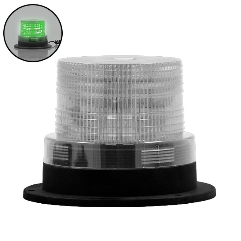 Φάρος Ασφαλείας Security STROBO LED 10W 10-30V IP65 Αδιάβροχος με Μαγνήτη Strobe Πράσινος GloboStar 88656