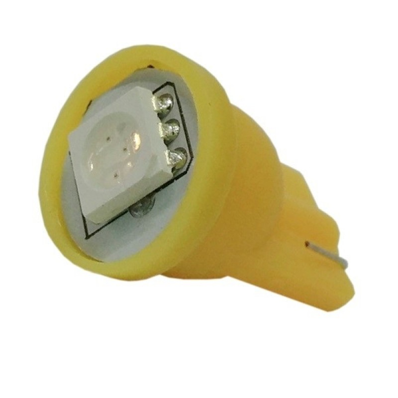 Λαμπτήρας LED T10 με 1 SMD 5050 Πορτοκαλί GloboStar 75650