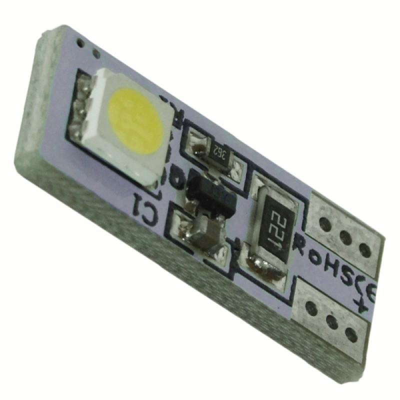 Λαμπτήρας LED T10 Can Bus με 2 SMD 5050 Ψυχρό Λευκό GloboStar 98340