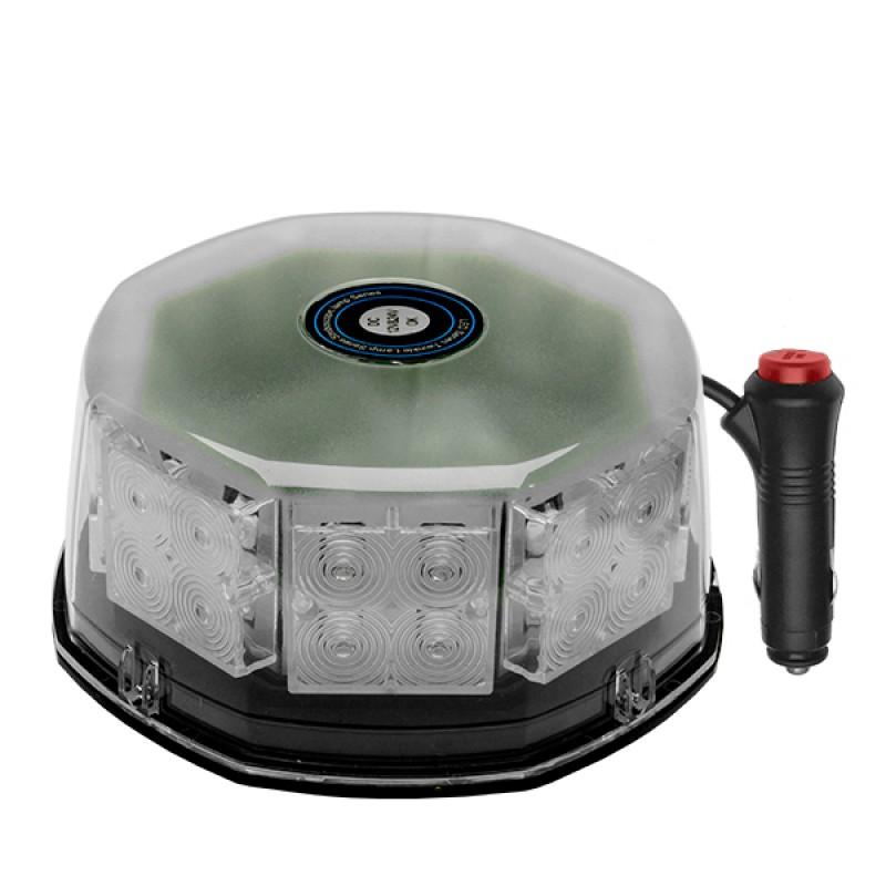 Φάρος Πυροσβεστικής STROBO LED 40W 10-30V IP65 Αδιάβροχος με Μαγνήτη Κόκκινος GloboStar 34231