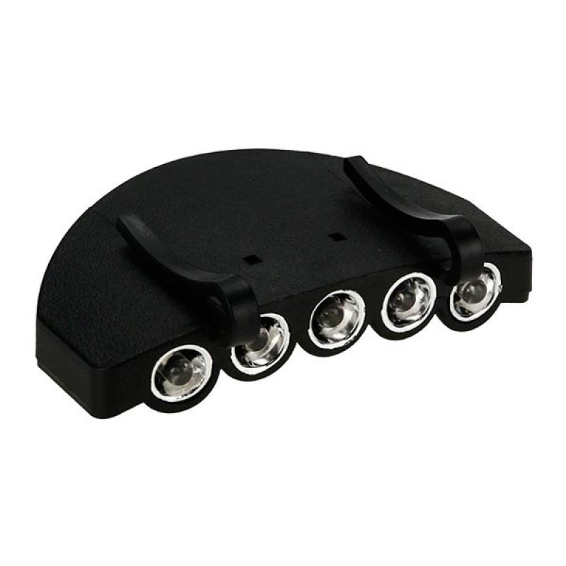 Φορητός Φακός Καπέλου με 5 LED Υψηλής Φωτεινότητας GloboStar 07022