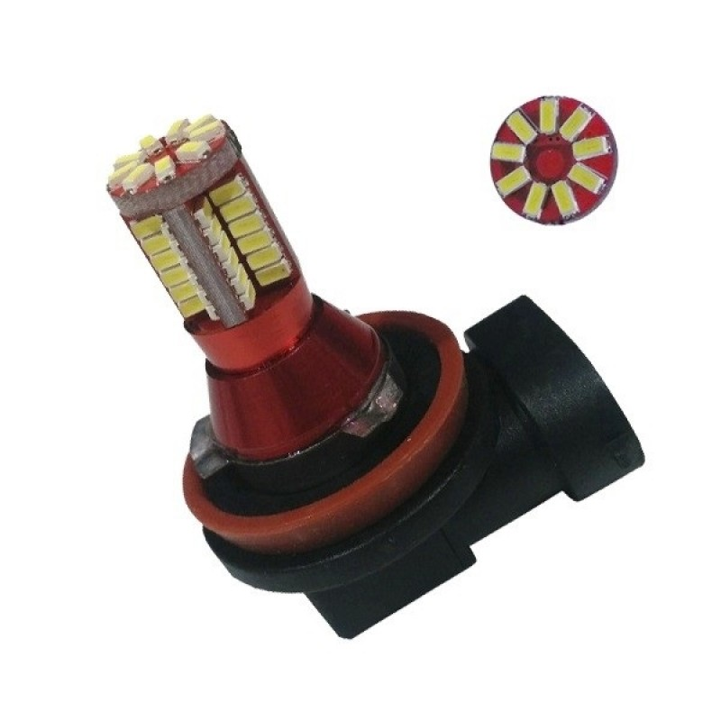 Λαμπτήρας LED H10 Can Bus με 57 SMD 3014 6000k GloboStar 47837