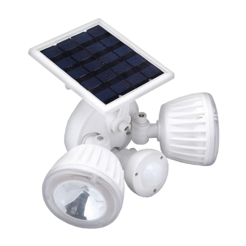 Αυτόνομος Ηλιακός Φωτοβολταϊκός Προβολέας Ασφαλείας CREE LED 30W 1500lm Αδιάβροχος IP65 με Αισθητήρα Νυχτός - Κίνησης Ψυχρό Λευκό 6000k GloboStar 12110