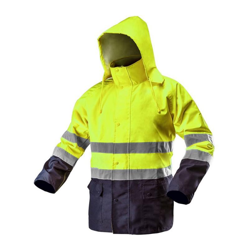 NEO TOOLS Μπουφάν εργασίας υψηλής ευκρίνειας κίτρινο με κουκούλα 81-720