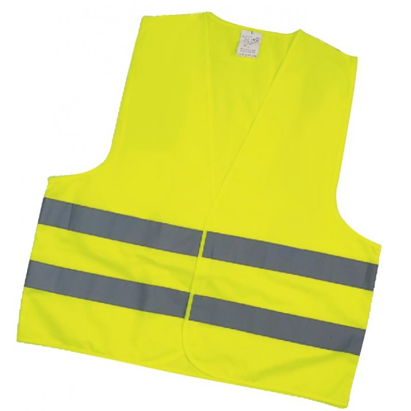 Inox Kiss Γιλέκο Αντανακλαστικό κίτρινο 120GSM, 100% Polyester SAF2101
