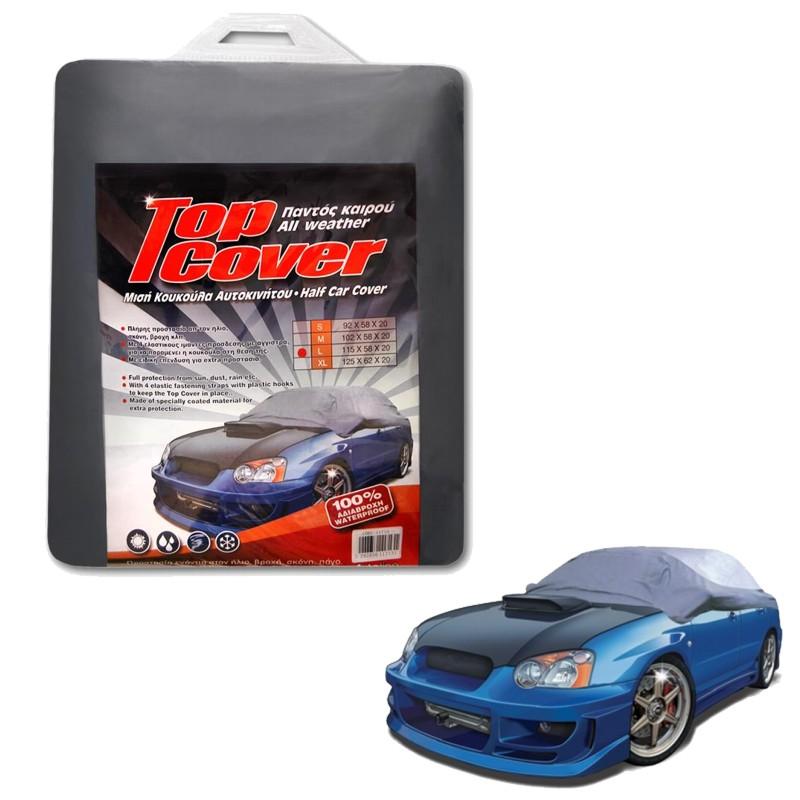 Κουκούλα αυτοκινήτου μισή TOP COVER Large (115x58x20)