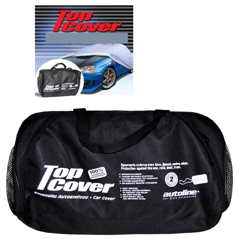Κουκούλα αυτοκινήτου οικονομική  χωρίς καθρέφτη TOP COVER ECO XLarge