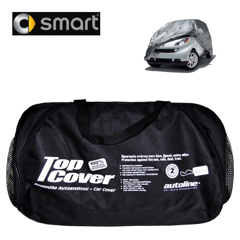 Κουκούλα αυτοκινήτου οικονομική  χωρίς καθρέφτη TOP COVER ECO για Smart