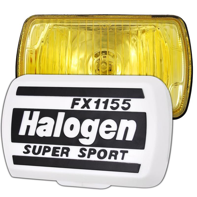 Προβολέας με καπάκι παραλληλόγραμμος κίτρινος FX155 LA1039