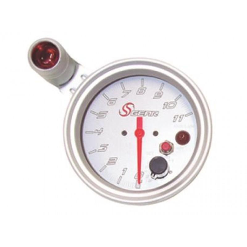 Στροφόμετρο S GEAR  με shift light,4''