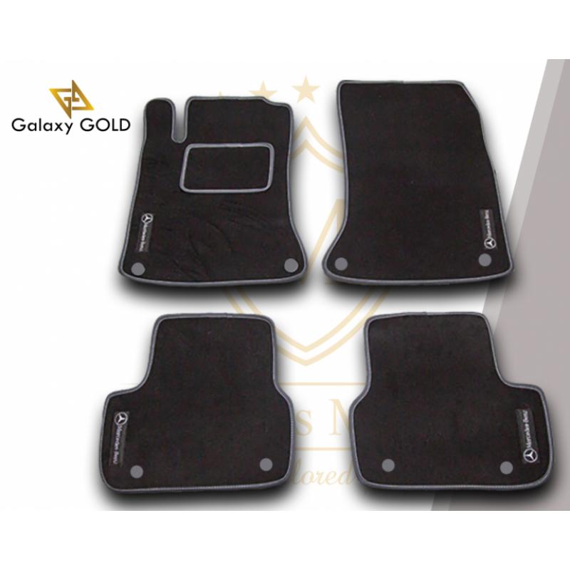 Πατάκια Galaxy  Gold - Μαύρο - Χειροποίητα ΣΕΤ