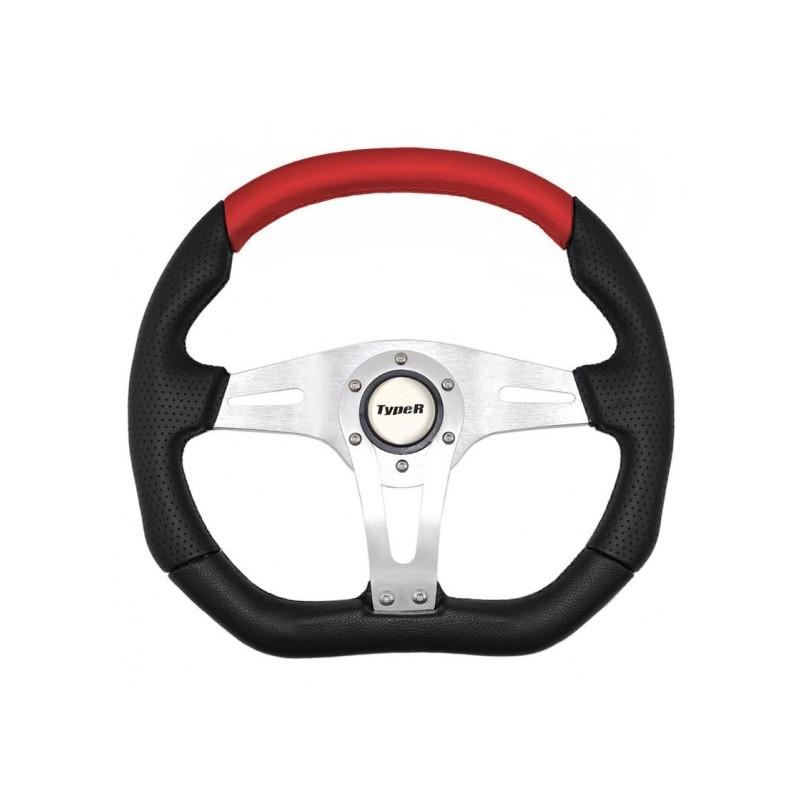 Τιμόνι τύπου  ISOTTA AUTOLINE μαύρο κόκκινο 1 τεμάχιο