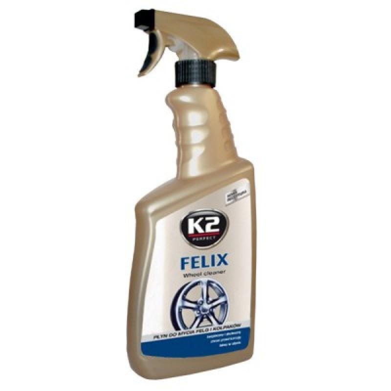 Καθαριστικό υγρό K2 FELIX 770ml για ζάντες από χάλυβα και αλουμίνιο, καθώς και για τάσια