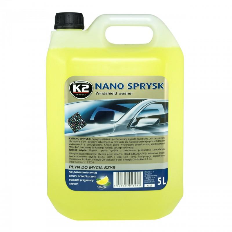 Υγρό καθαρισμού παρμπρίζ K2 για τους καλοκαιρινούς μήνες 5L