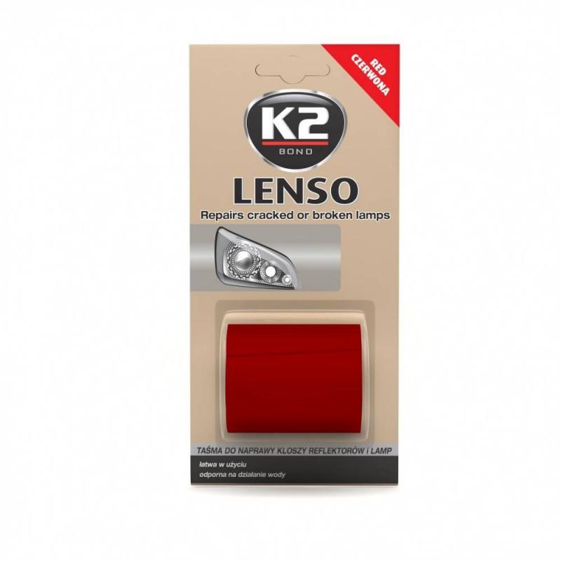 Ταινία επισκευής κόκκινη για ραγισμένα ή σπασμένα φανάρια και λάμπες LENSO K2 48mm x 1.52m