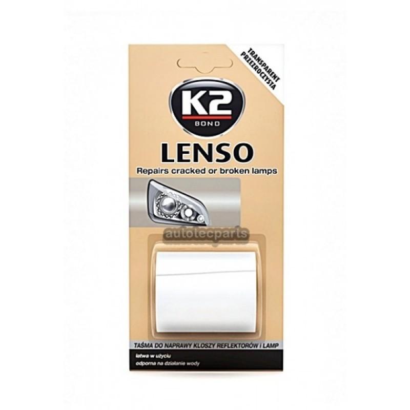 Ταινία επισκευής διάφανη για ραγισμένα ή σπασμένα φανάρια και λάμπες LENSO K2 48mm x 1.52m