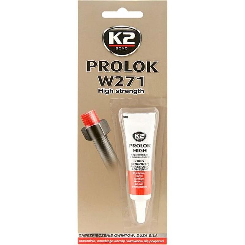 Κόλλα σπειρωμάτων υψηλής αντοχής κόκκινη K2 PROLOK HIGH 271 6ml