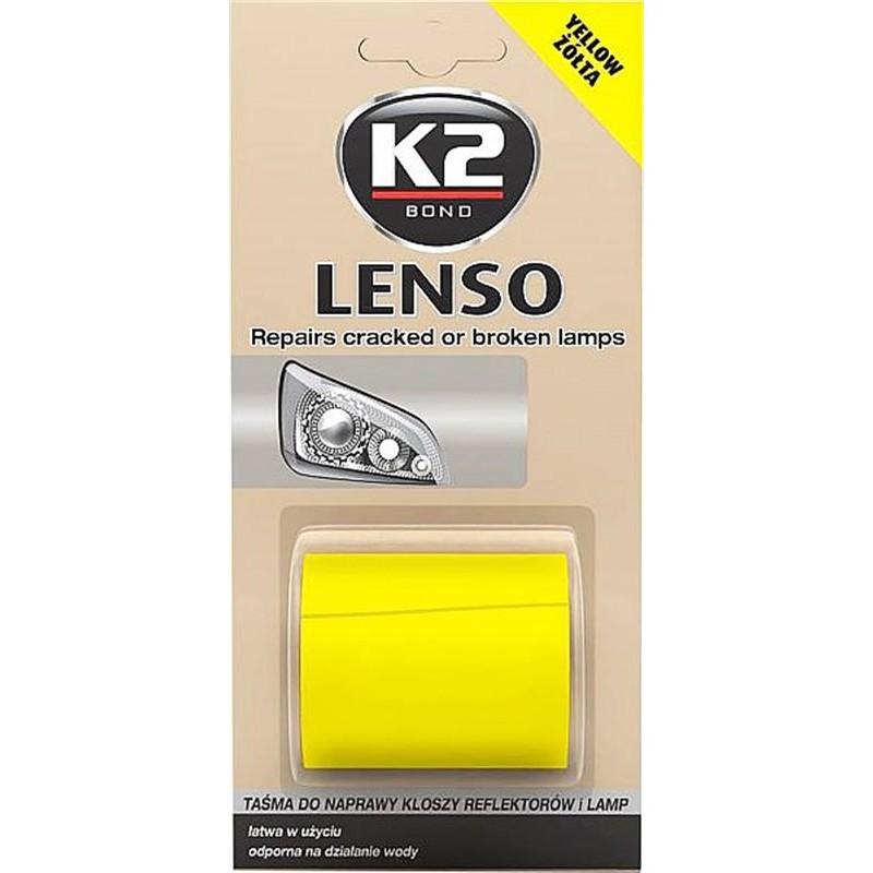 Ταινία επισκευής κίτρινη για ραγισμένα ή σπασμένα φανάρια και λάμπες LENSO K2 48mm x 1.52m